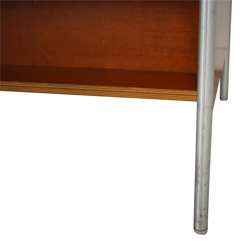 Custom Metal and Wood Bookcase on sale