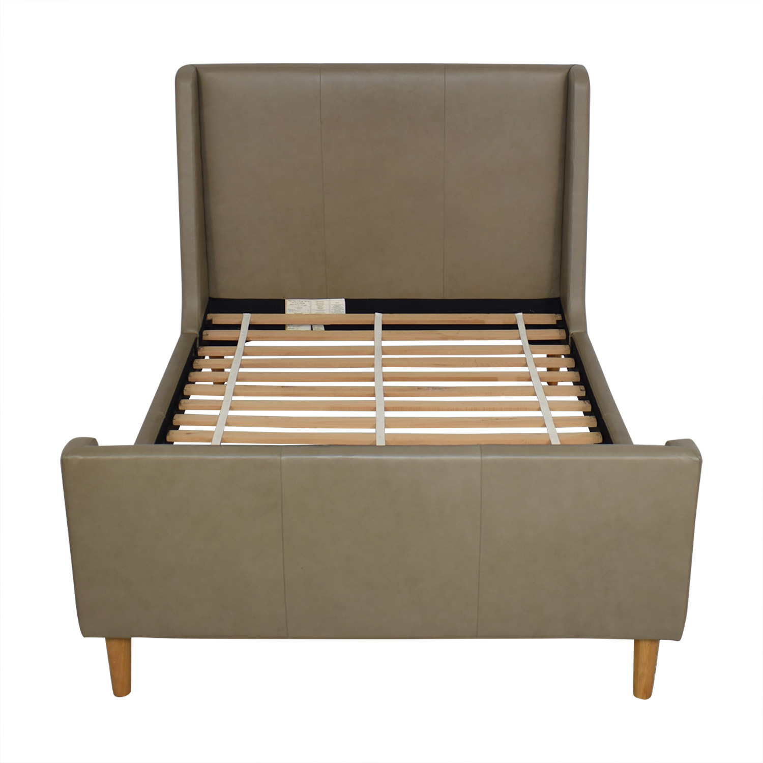 West Elm Upholstered Sleigh Full Bed Frame West Elm