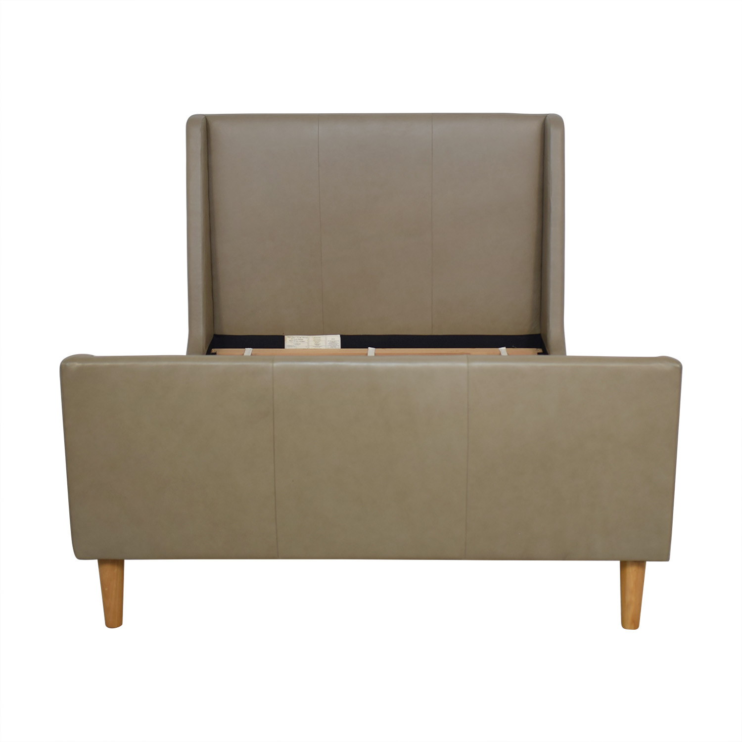 West Elm Upholstered Sleigh Full Bed Frame sale