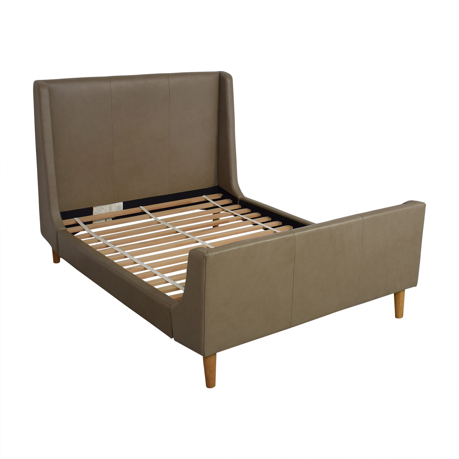 buy West Elm Upholstered Sleigh Full Bed Frame West Elm Bed Frames