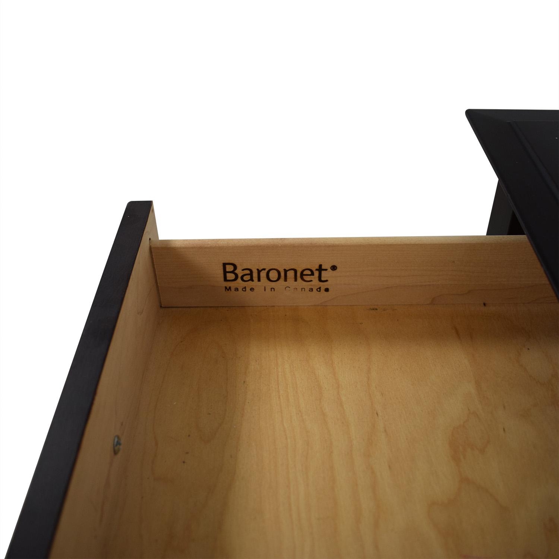 Crate & Barrel Crate & Barrel Baronet Espresso Desk nj