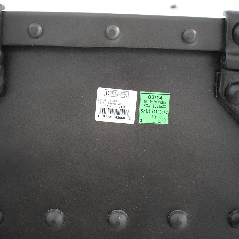 shop Restoration Hardware Metal Trunk Restoration Hardware Storage