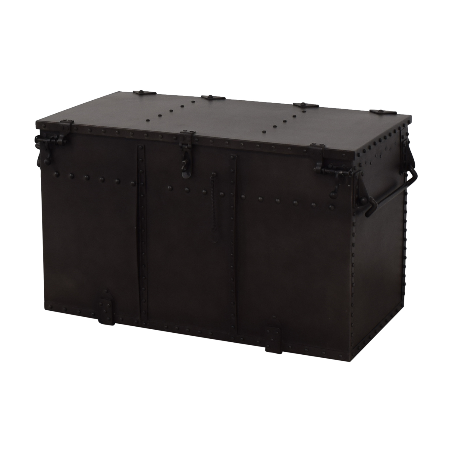 Restoration Hardware Restoration Hardware Metal Trunk for sale