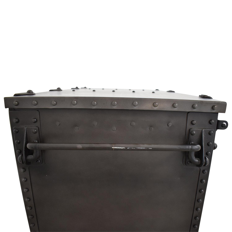 Restoration Hardware Metal Trunk sale