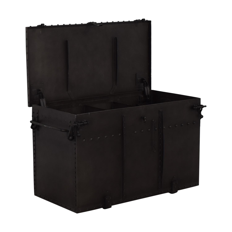 Restoration Hardware Metal Trunk / Storage