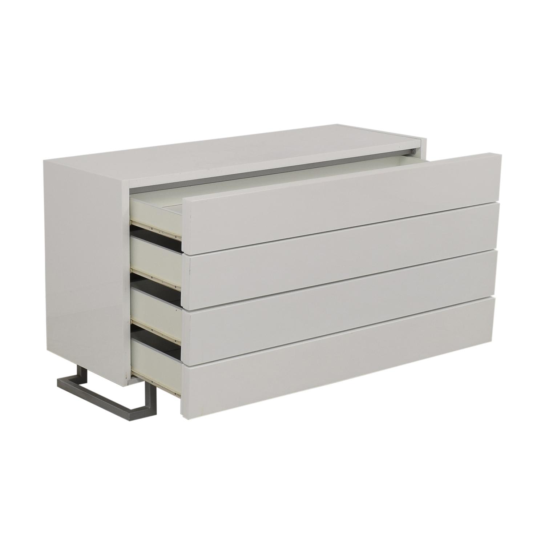 shop Modrest Modern White Dresser Modrest