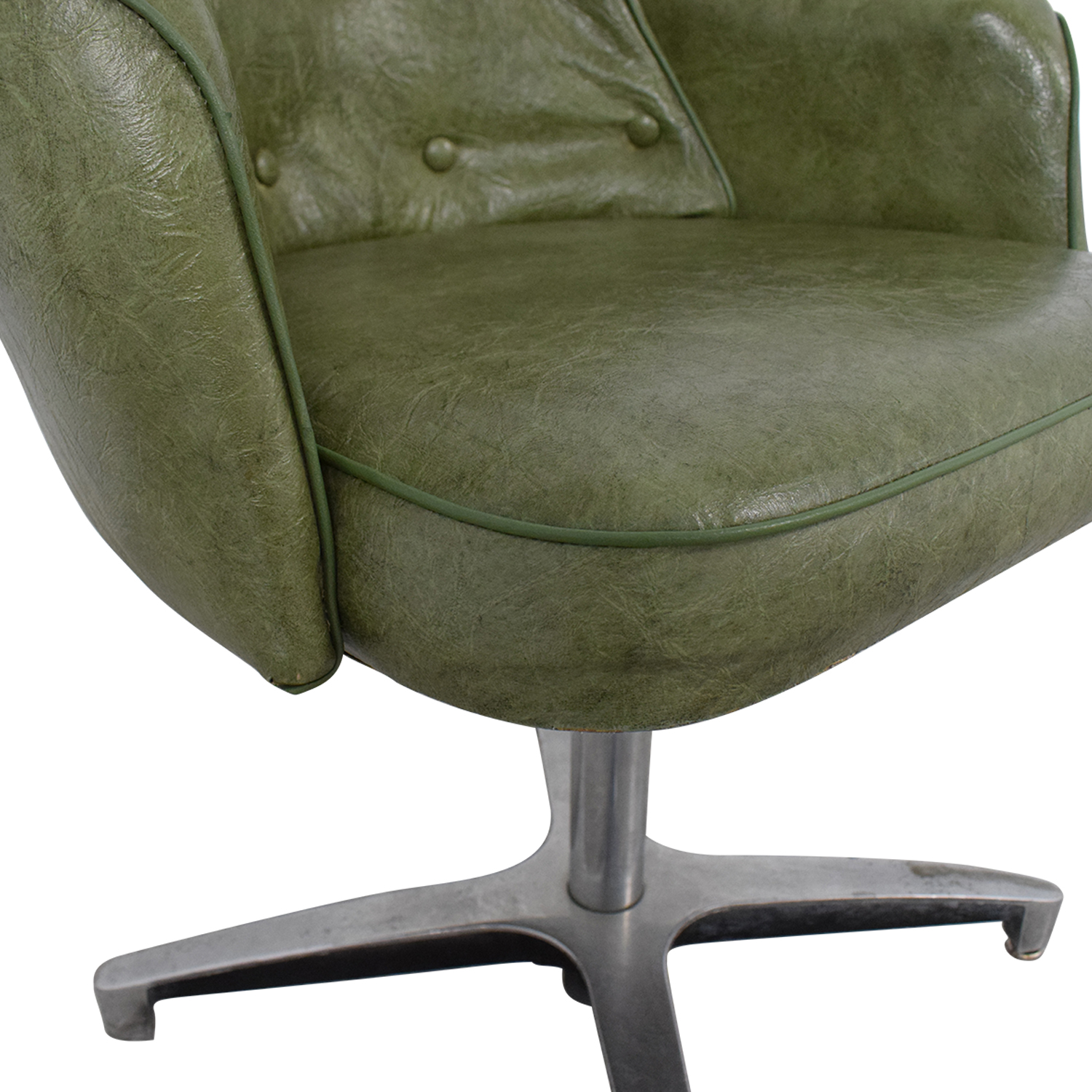 Spartan Chrome Furniture Green Leather Chair / Home Office Chairs