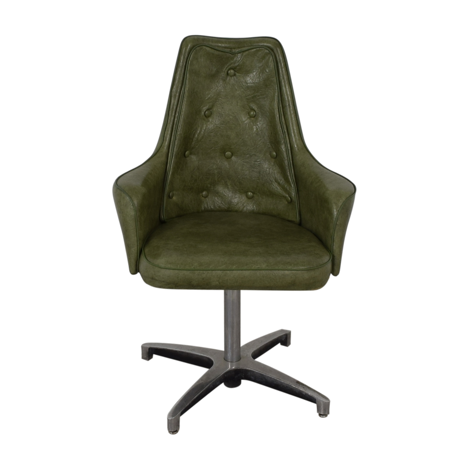 Spartan Chrome Furniture Spartan Chrome Furniture Green Leather Chair nj