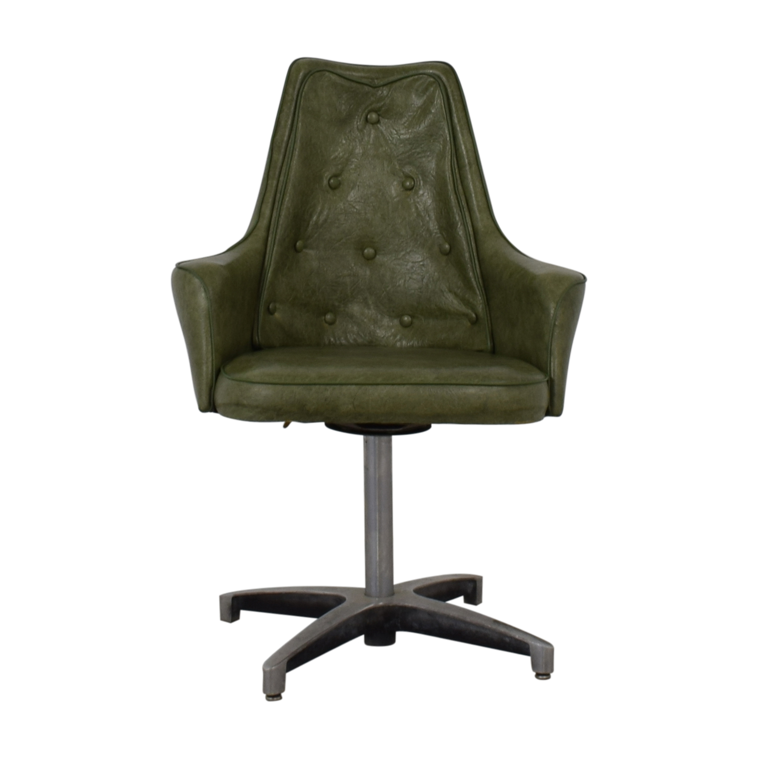 buy Spartan Chrome Furniture Green Leather Chair Spartan Chrome Furniture
