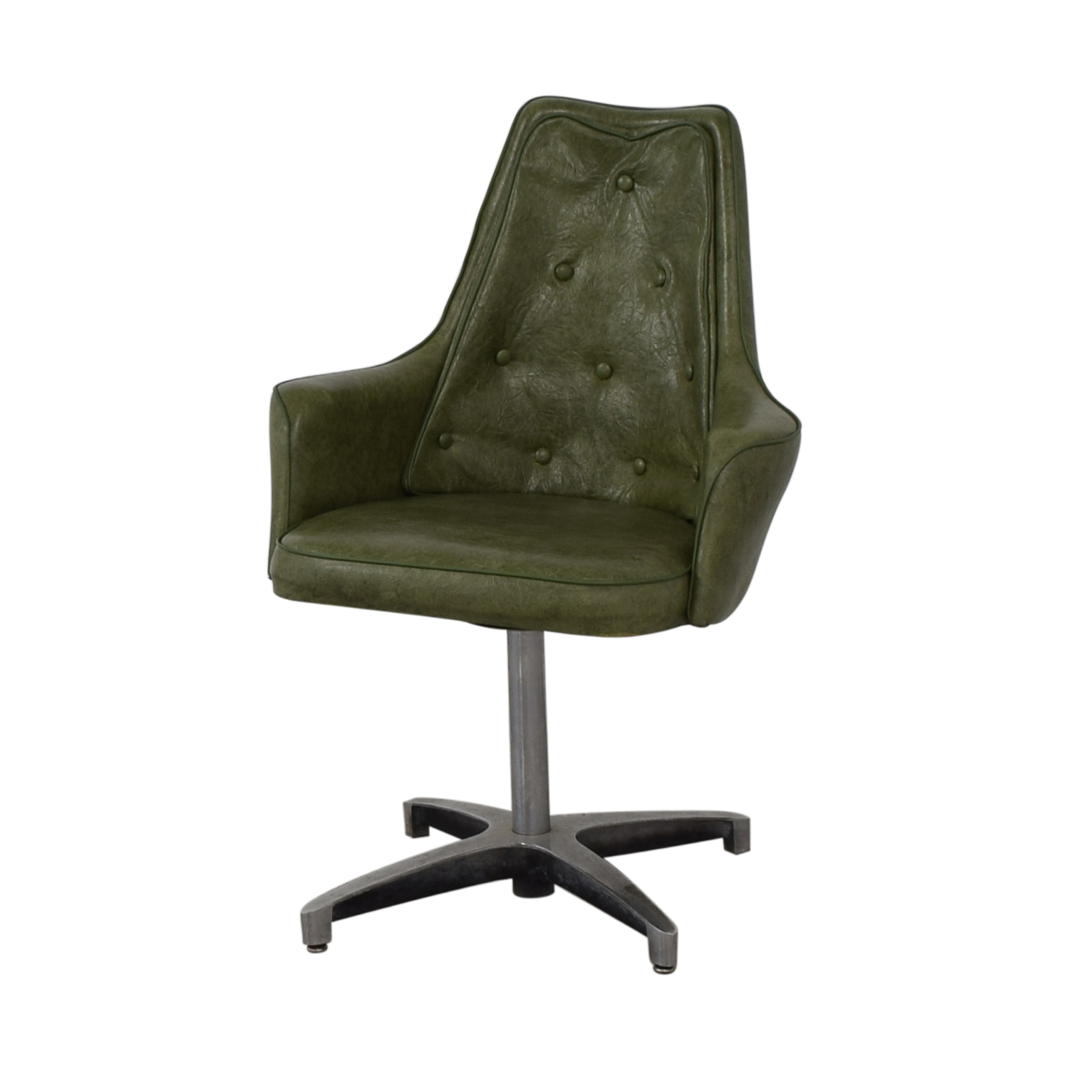 buy Spartan Chrome Furniture Green Leather Chair Spartan Chrome Furniture Home Office Chairs