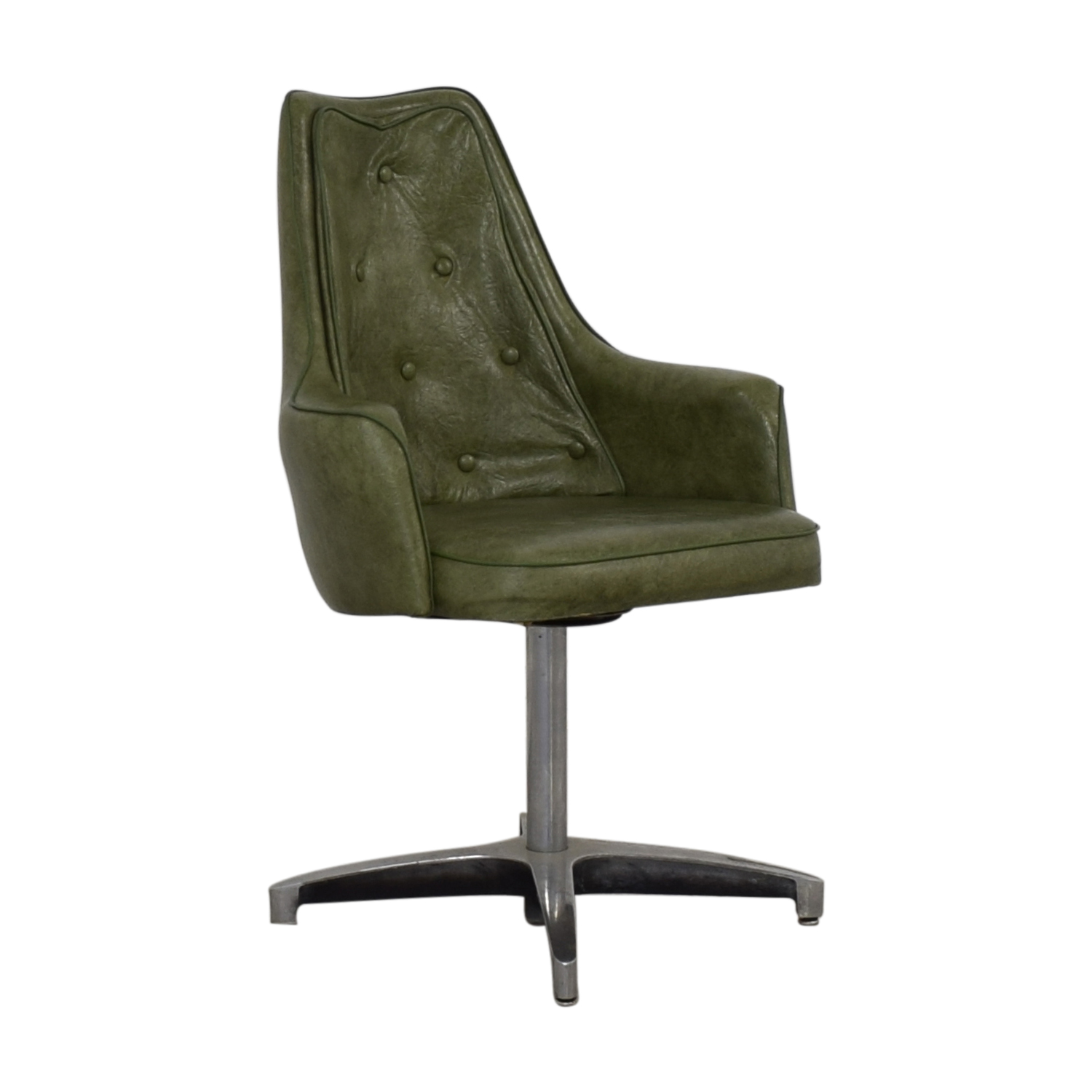 shop Spartan Chrome Furniture Green Leather Chair Spartan Chrome Furniture Chairs