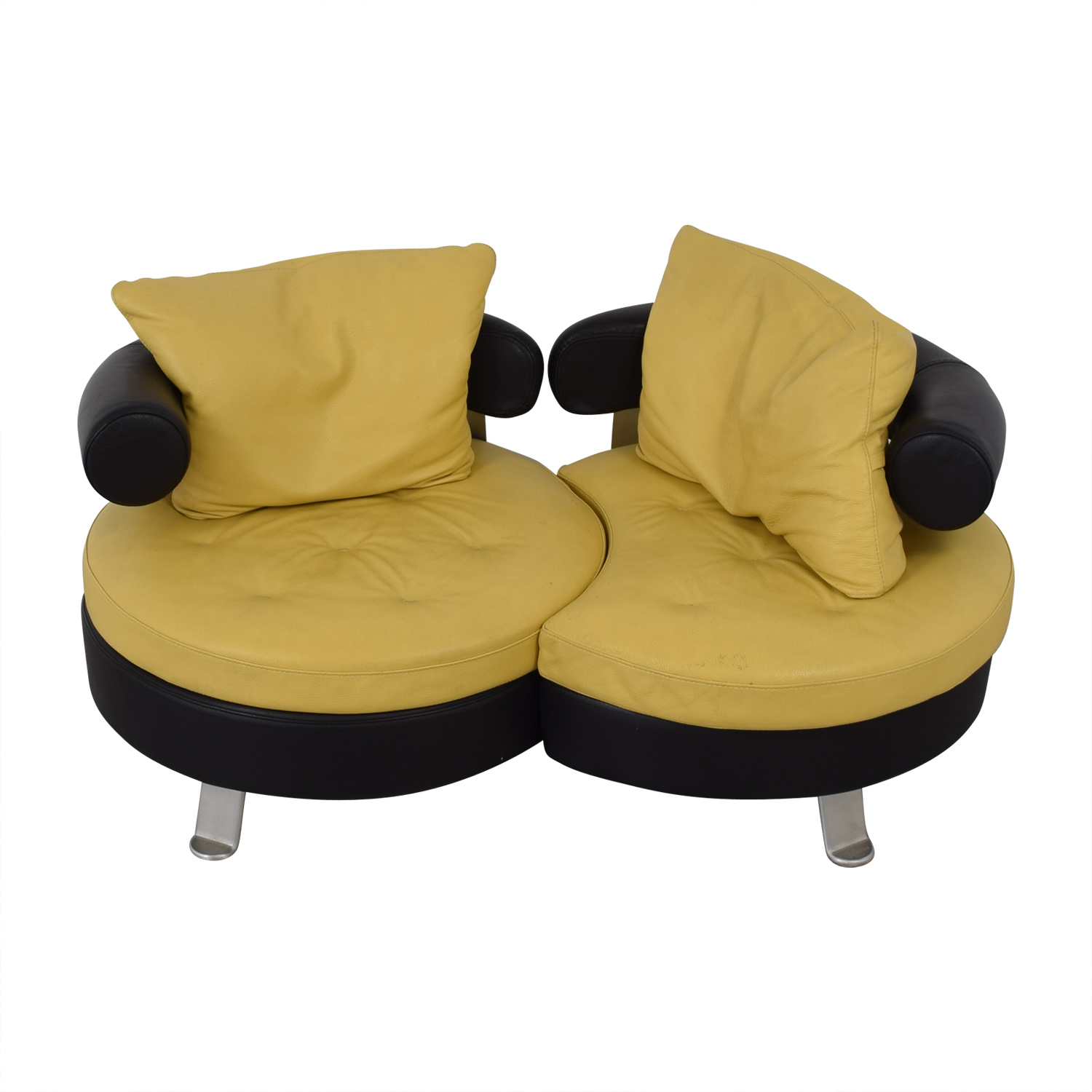 buy Formenti Swivel Loveseat Formenti Sofas