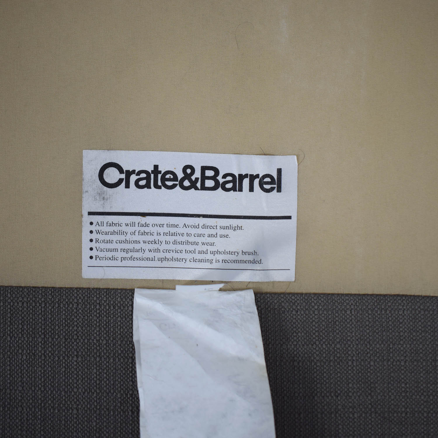 Crate & Barrel Two Piece Sectional Crate & Barrel