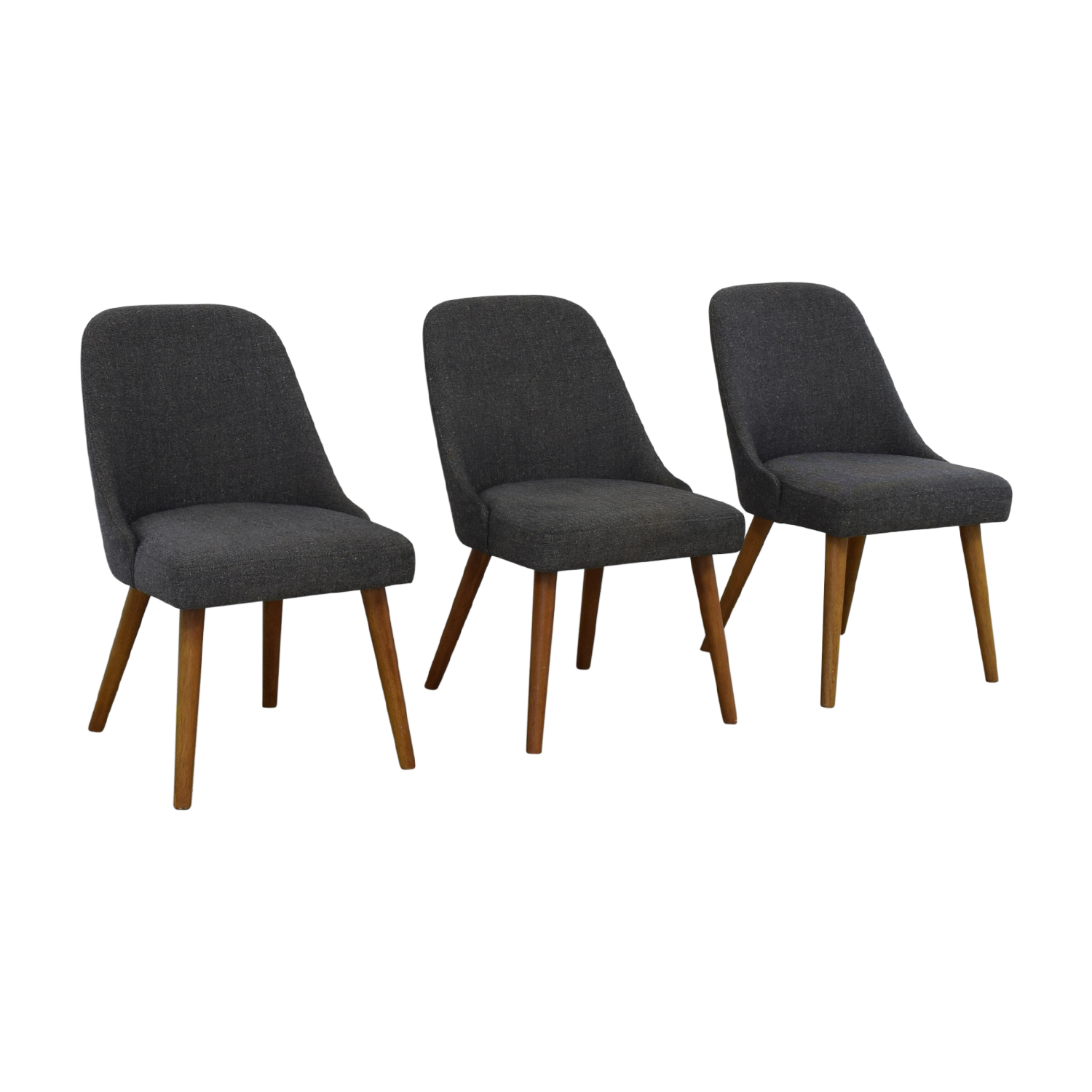 buy West Elm Mid-Century Upholstered Dining Chairs West Elm