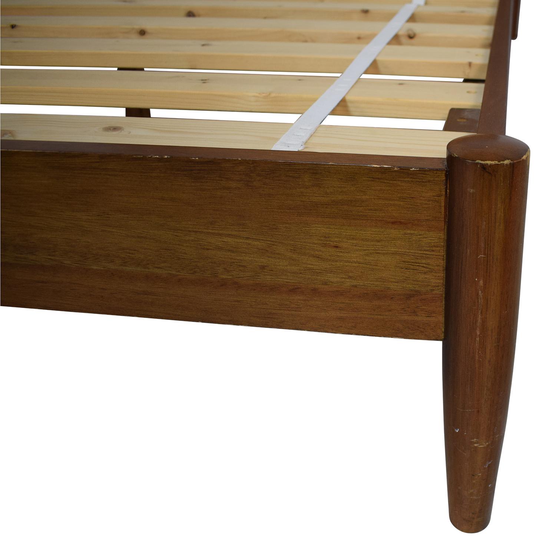 West Elm Mid Century Queen Acorn Bed sale