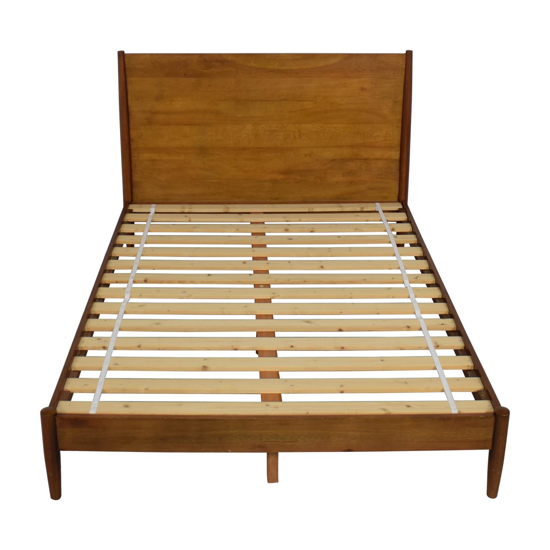 shop West Elm Mid Century Queen Acorn Bed West Elm Bed Frames