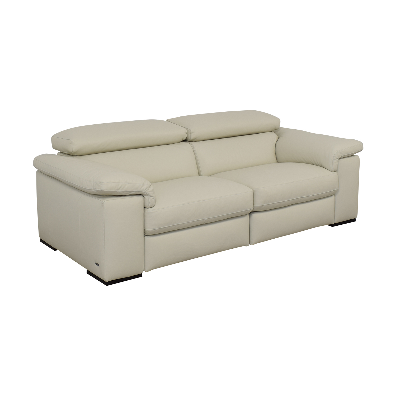 Natuzzi Two Cushion Reclining Sofa sale