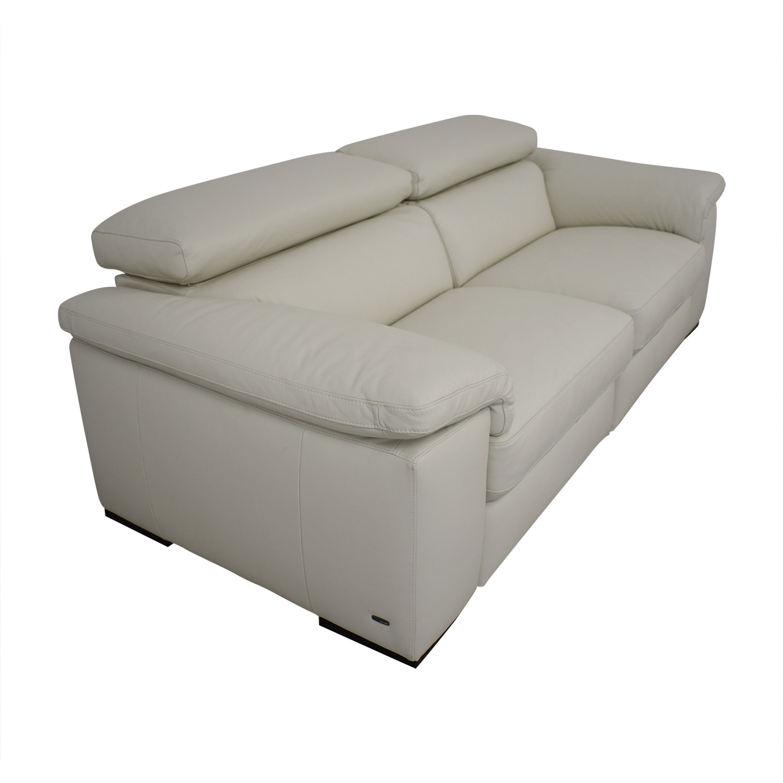 Natuzzi Two Cushion Reclining Sofa / Classic Sofas