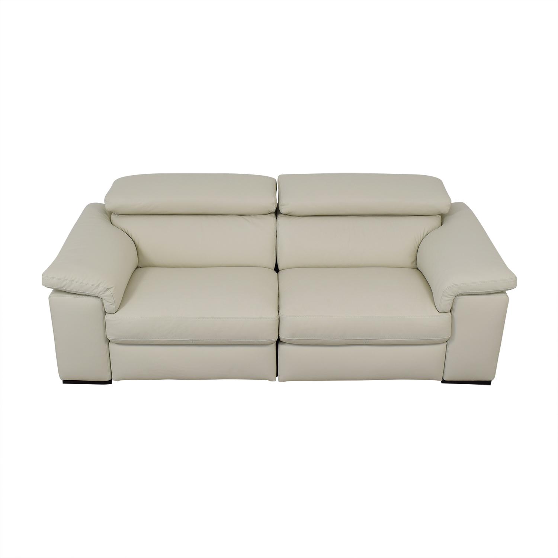 Natuzzi Natuzzi Two Cushion Reclining Sofa price