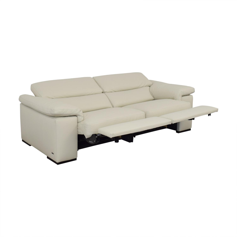 Natuzzi Natuzzi Two Cushion Reclining Sofa nyc