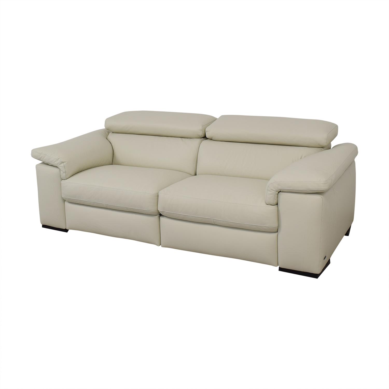 Natuzzi Natuzzi Two Cushion Reclining Sofa used