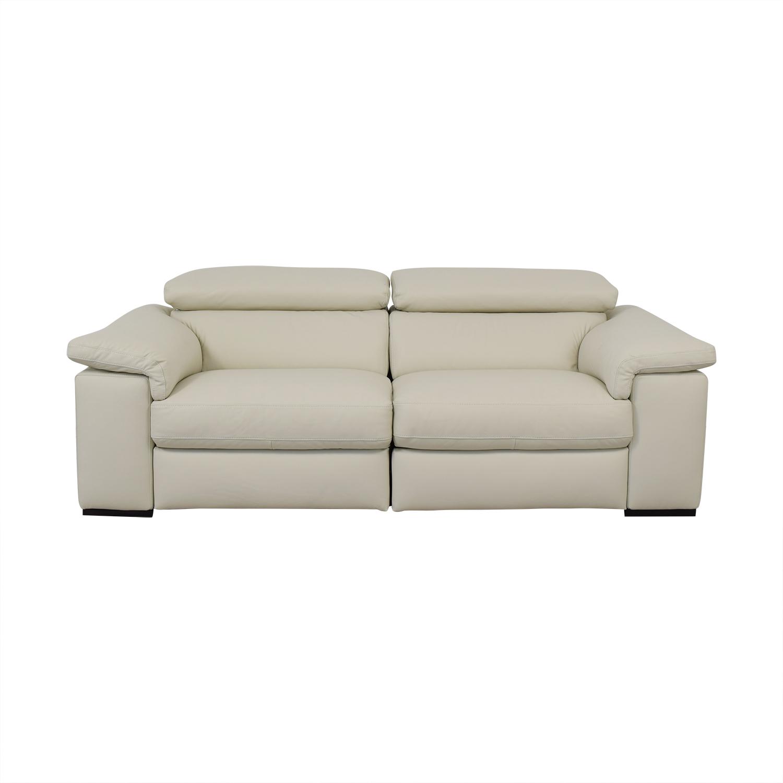 shop Natuzzi Two Cushion Reclining Sofa Natuzzi Sofas