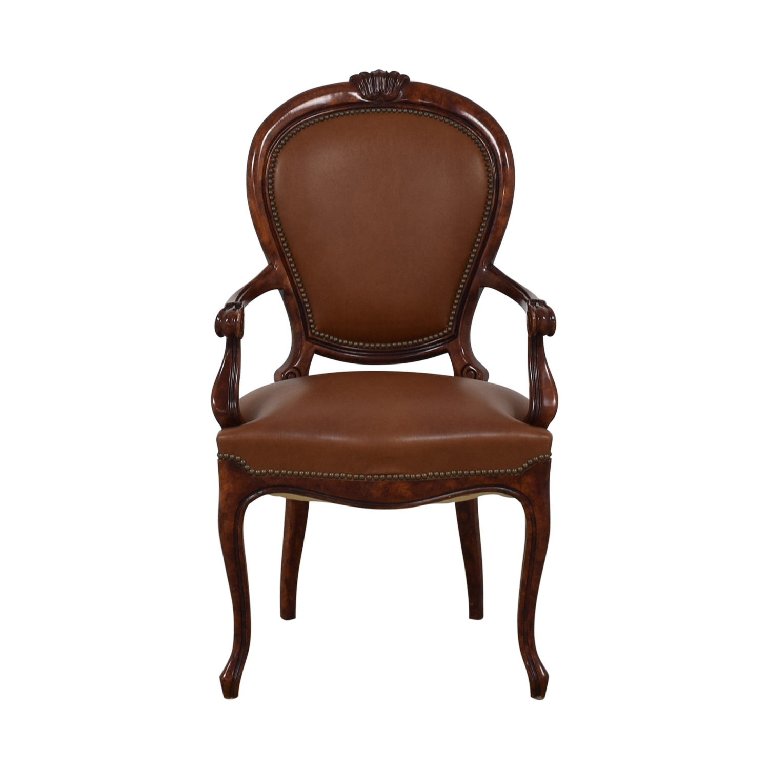 buy French Style Nailhead Library Armchair