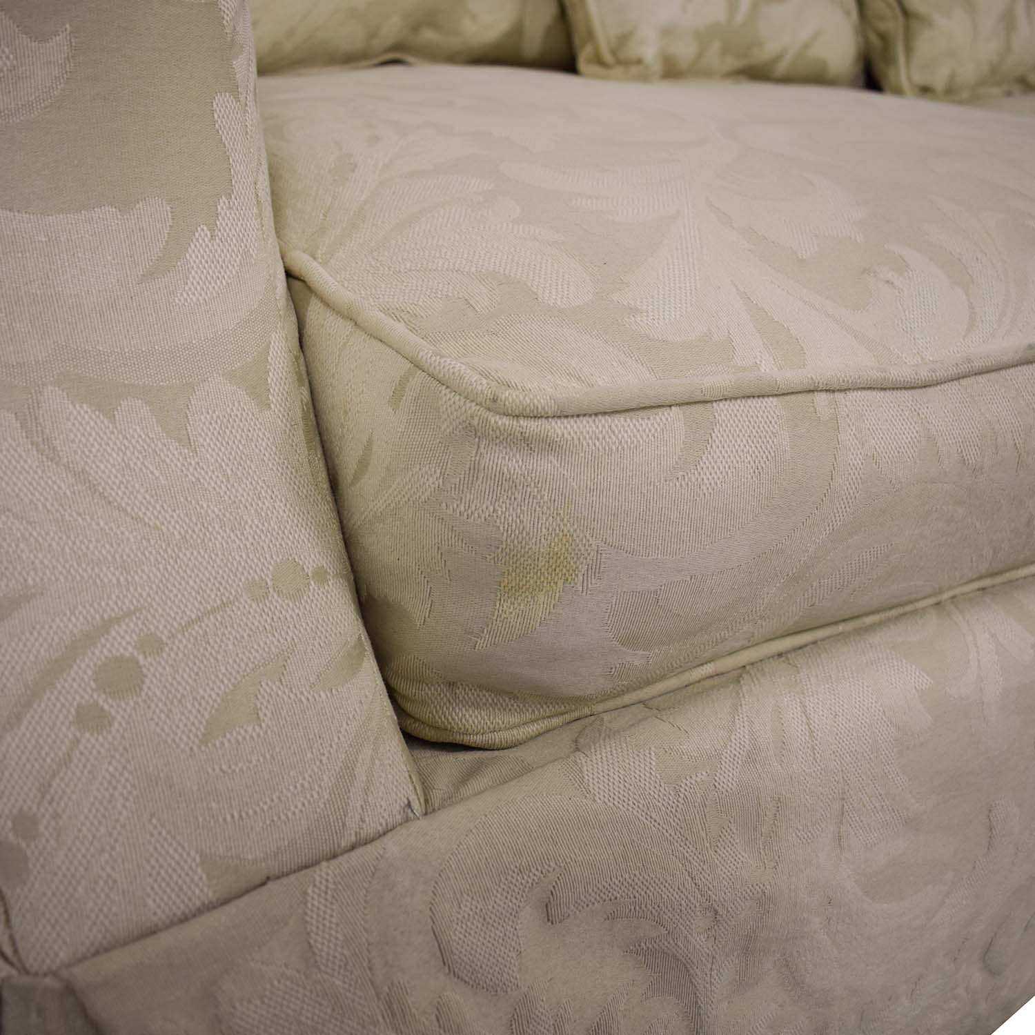 Rowe Furniture Rowe Furniture Roll Arm Sofa off white