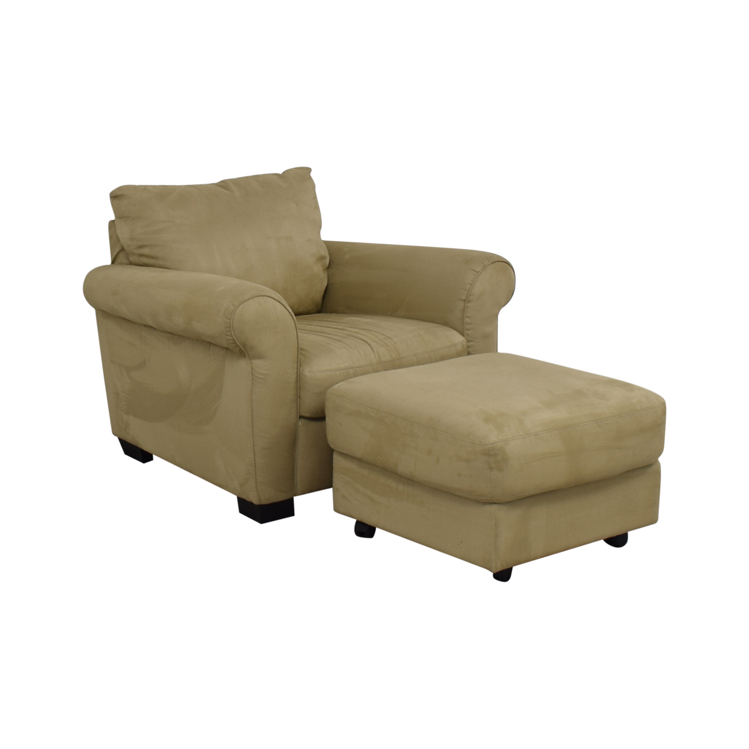 buy Italsofa Microsuede Armchair with Ottoman Italsofa Chairs