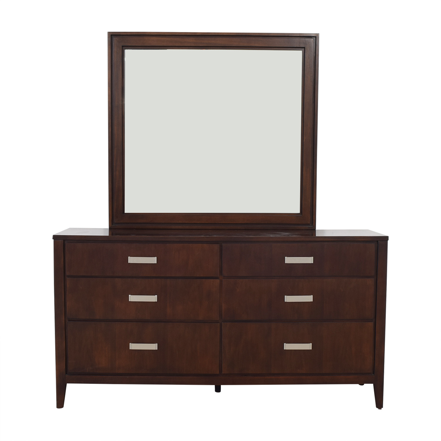 Raymour & Flanigan Raymour & Flanigan Kian Walnut Dresser with Mirror price