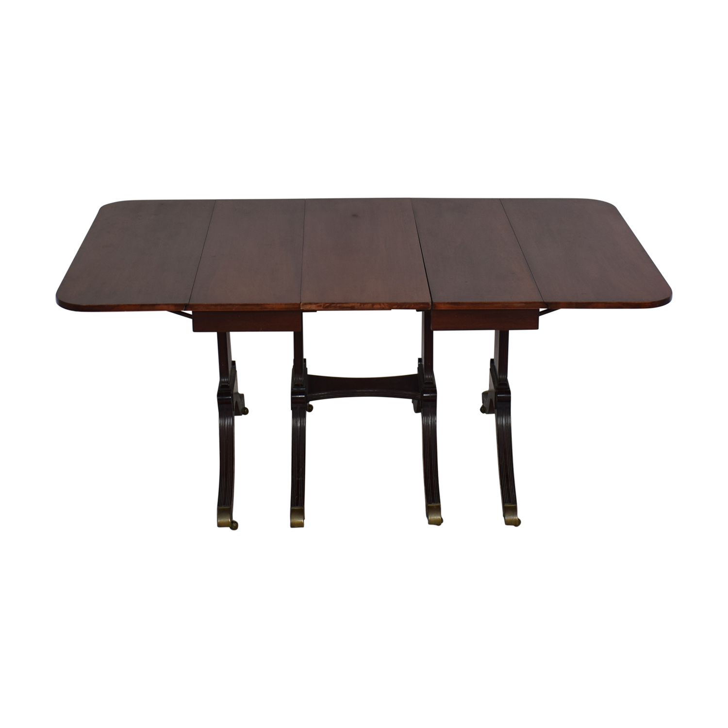 Expandable Dining Table dark brown