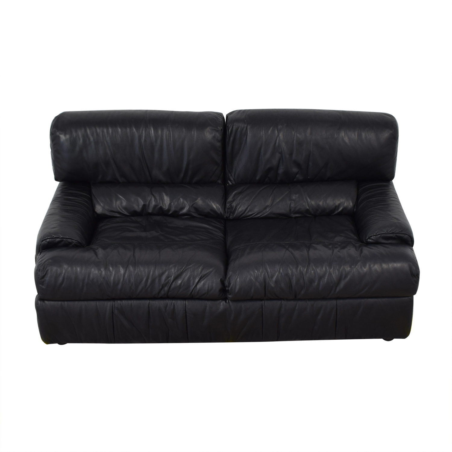 buy Natuzzi Black Leather Loveseat Natuzzi Sofas