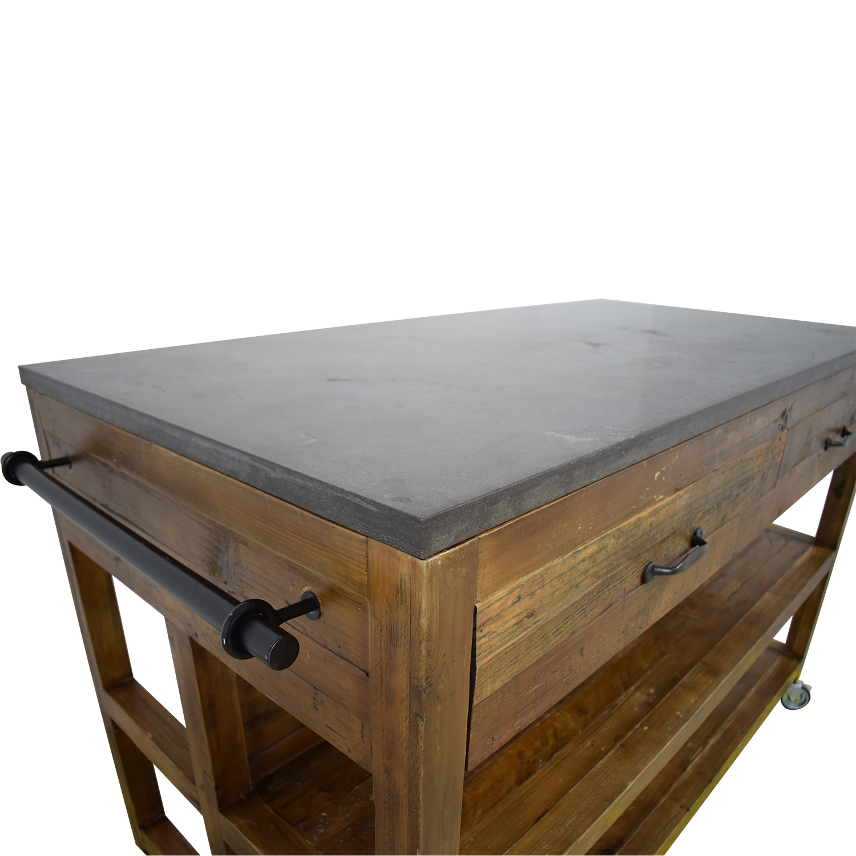 shop Crate & Barrel Crate &  Barrel Bluestone Kitchen Island online