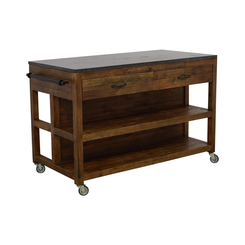 Crate &  Barrel Bluestone Kitchen Island / Utility Tables