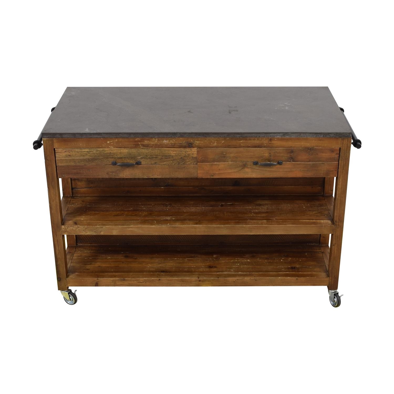 Crate & Barrel Crate &  Barrel Bluestone Kitchen Island Tables