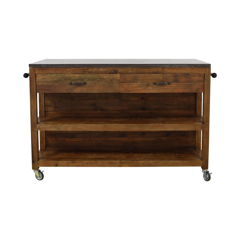 Crate &  Barrel Bluestone Kitchen Island / Tables
