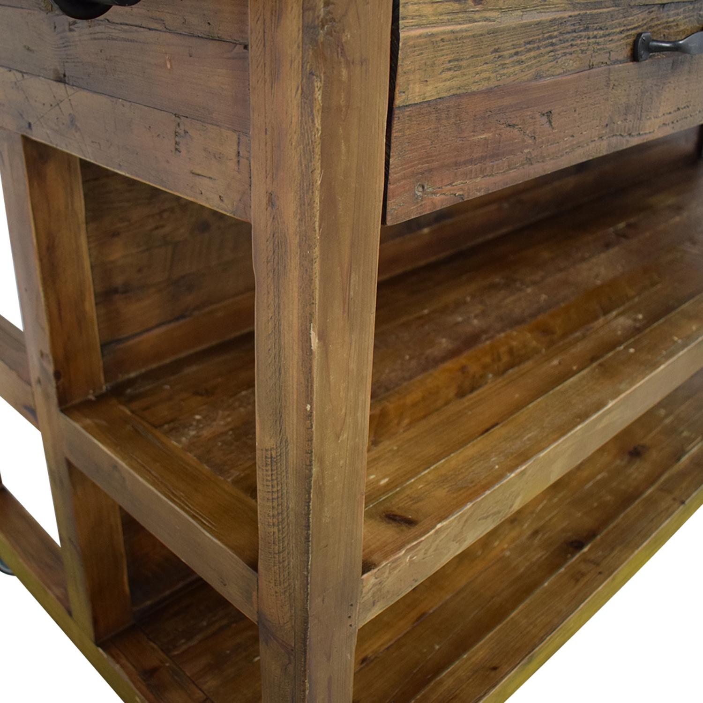 Crate & Barrel Crate &  Barrel Bluestone Kitchen Island brown