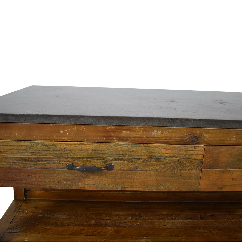 Crate & Barrel Crate &  Barrel Bluestone Kitchen Island discount