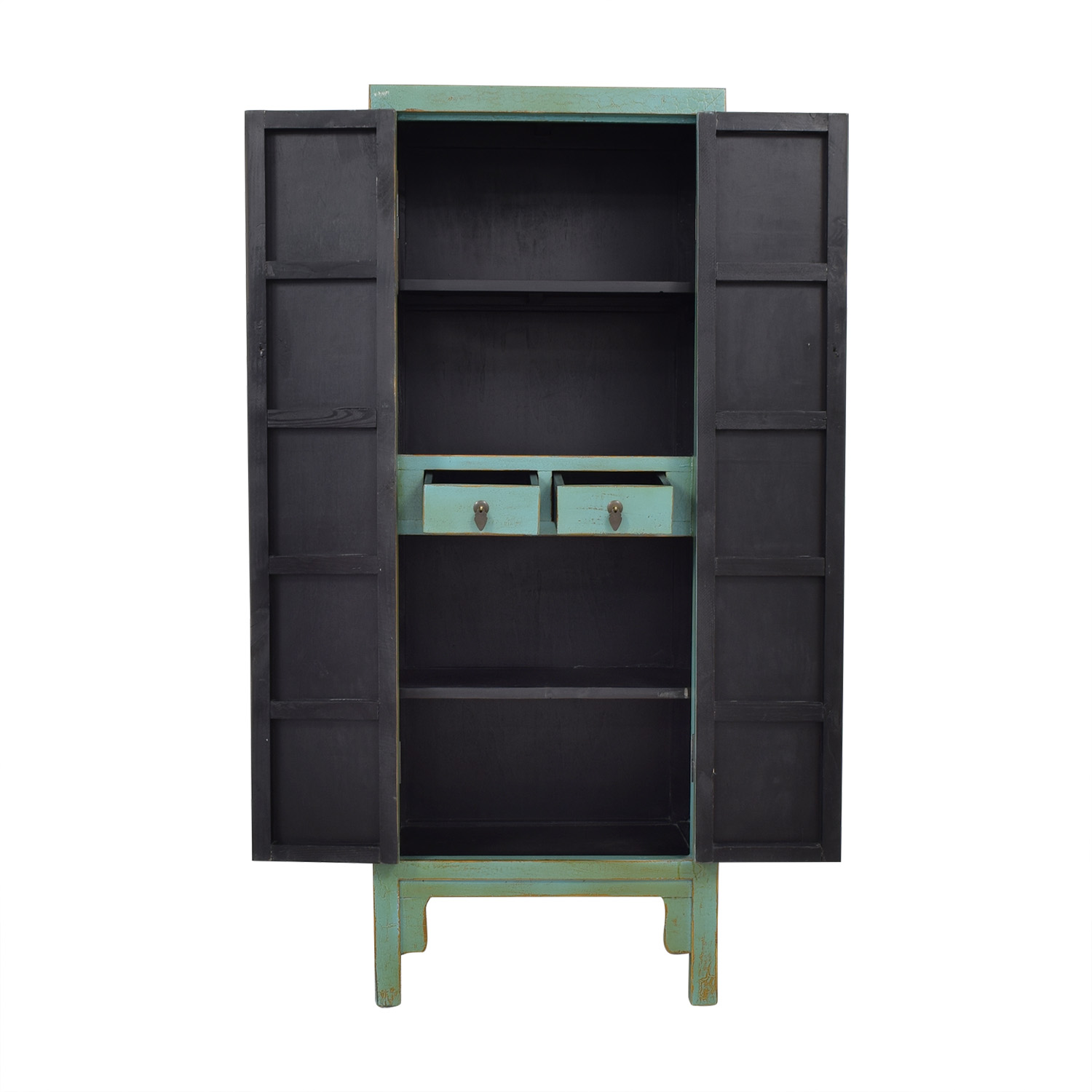 Two Door Chinese Cabinet Turquoise nyc