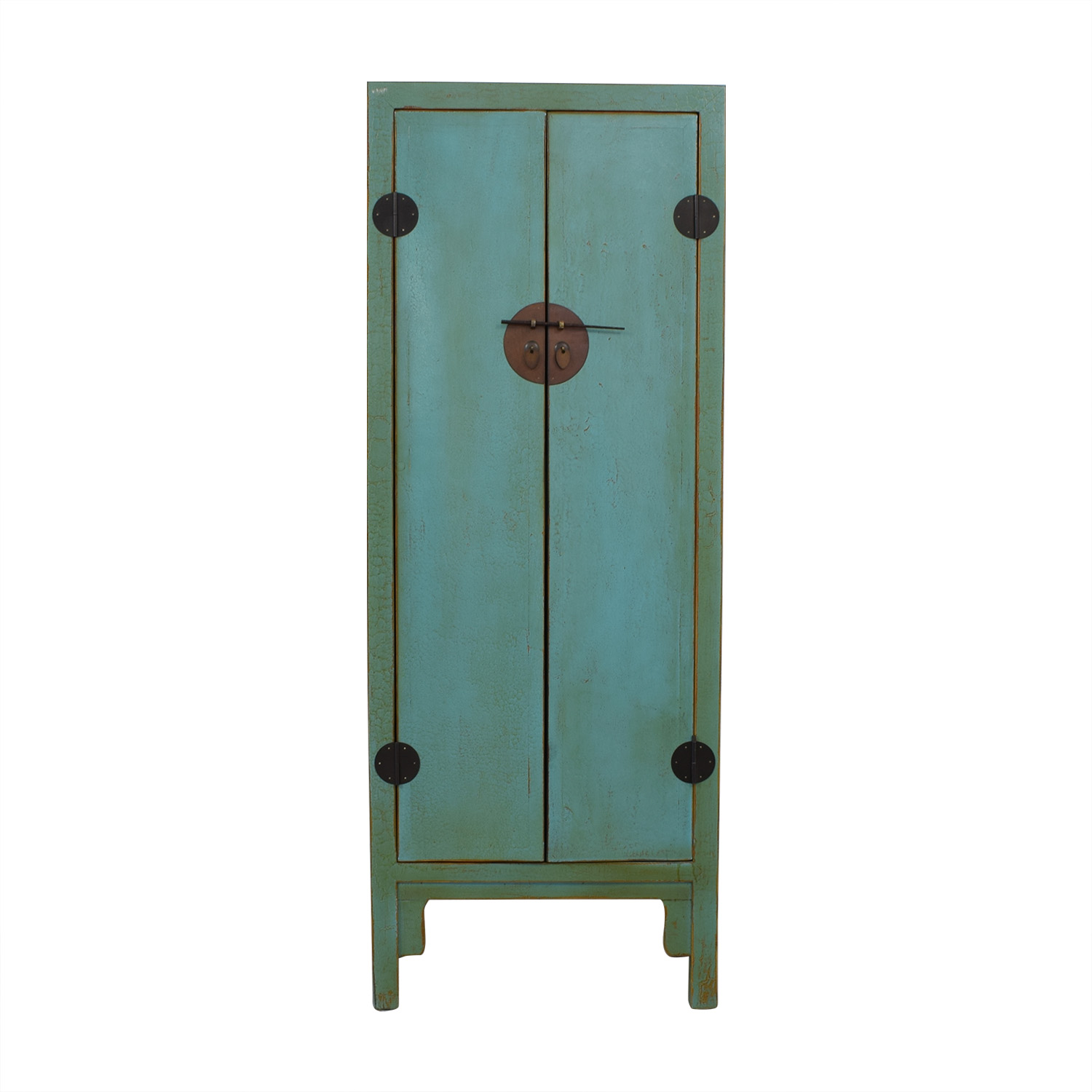 shop Two Door Chinese Cabinet Turquoise