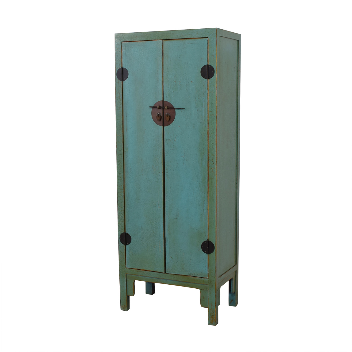 Two Door Chinese Cabinet Turquoise turquoise