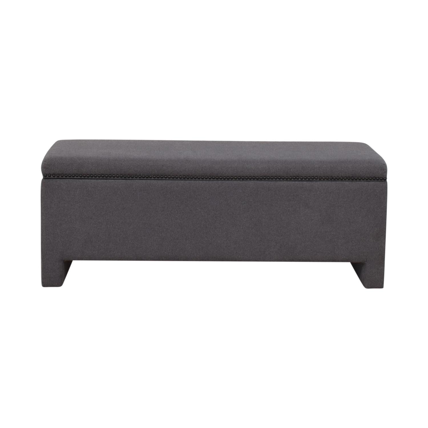 buy West Elm West Elm Nailhead Upholstered Storage Bench online