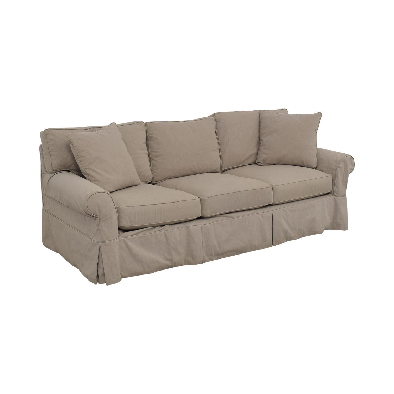 Arhaus Arhaus Three Cushion Roll Arm Sofa on sale