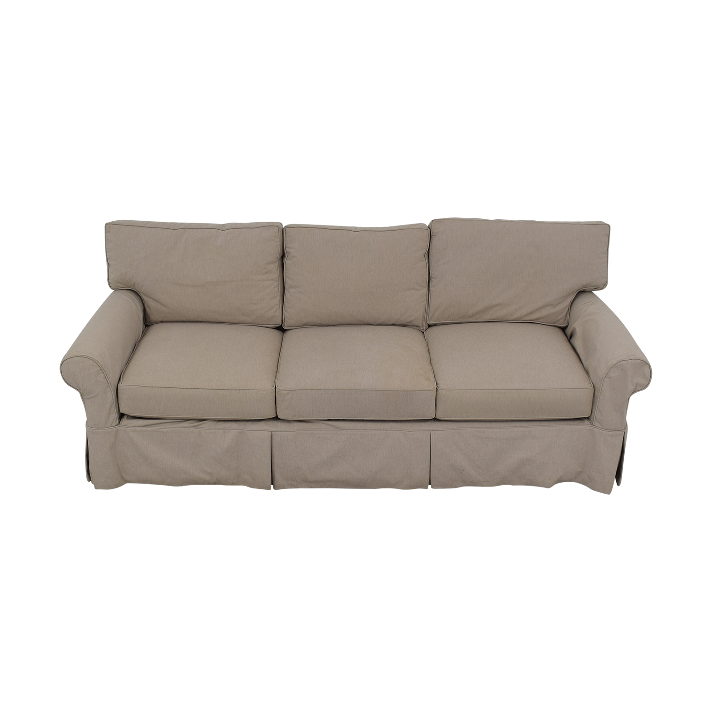 shop Arhaus Three Cushion Roll Arm Sofa Arhaus Sofas