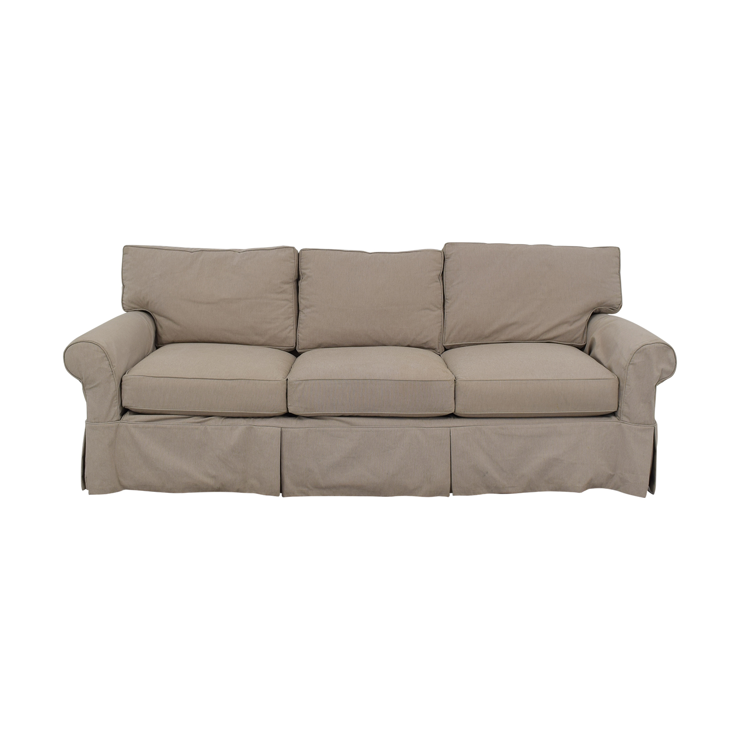 Arhaus Arhaus Three Cushion Roll Arm Sofa
