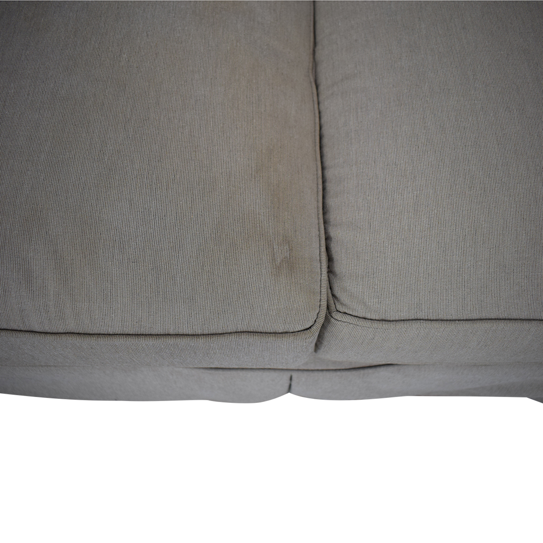Arhaus Arhaus Three Cushion Roll Arm Sofa nj