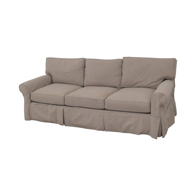 Arhaus Arhaus Three Cushion Roll Arm Sofa