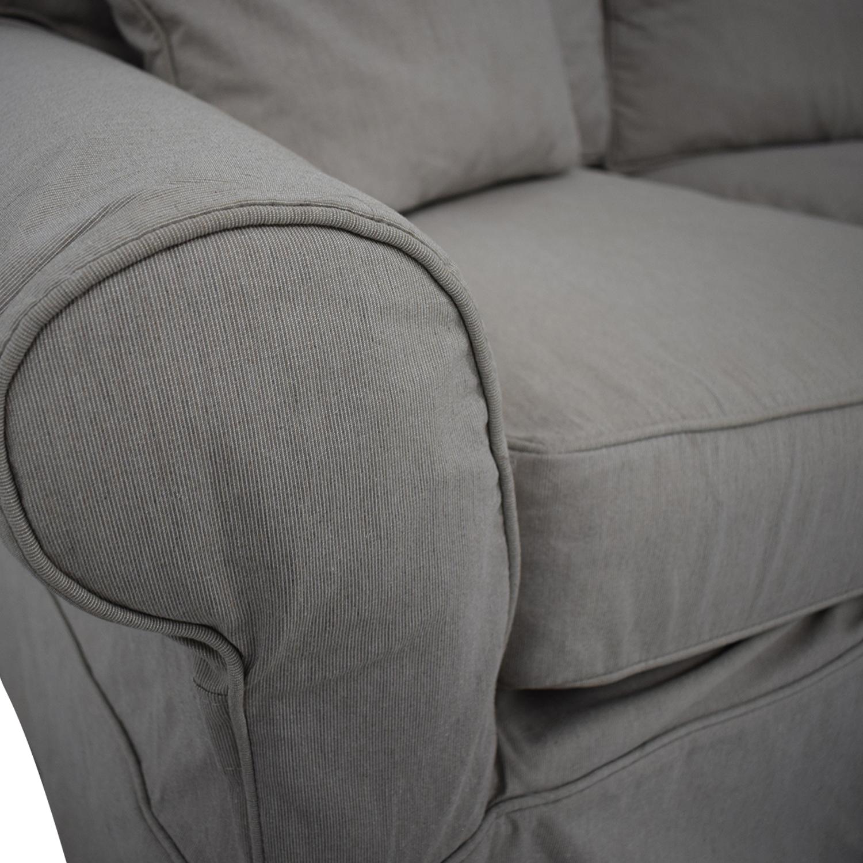 Arhaus Arhaus Three Cushion Roll Arm Sofa Classic Sofas