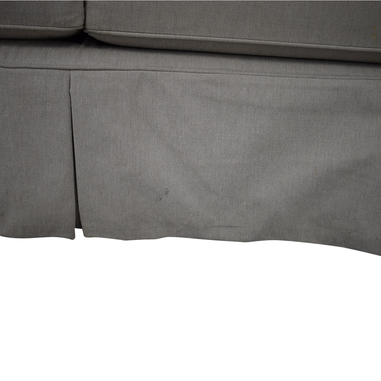 Arhaus Arhaus Three Cushion Roll Arm Sofa price