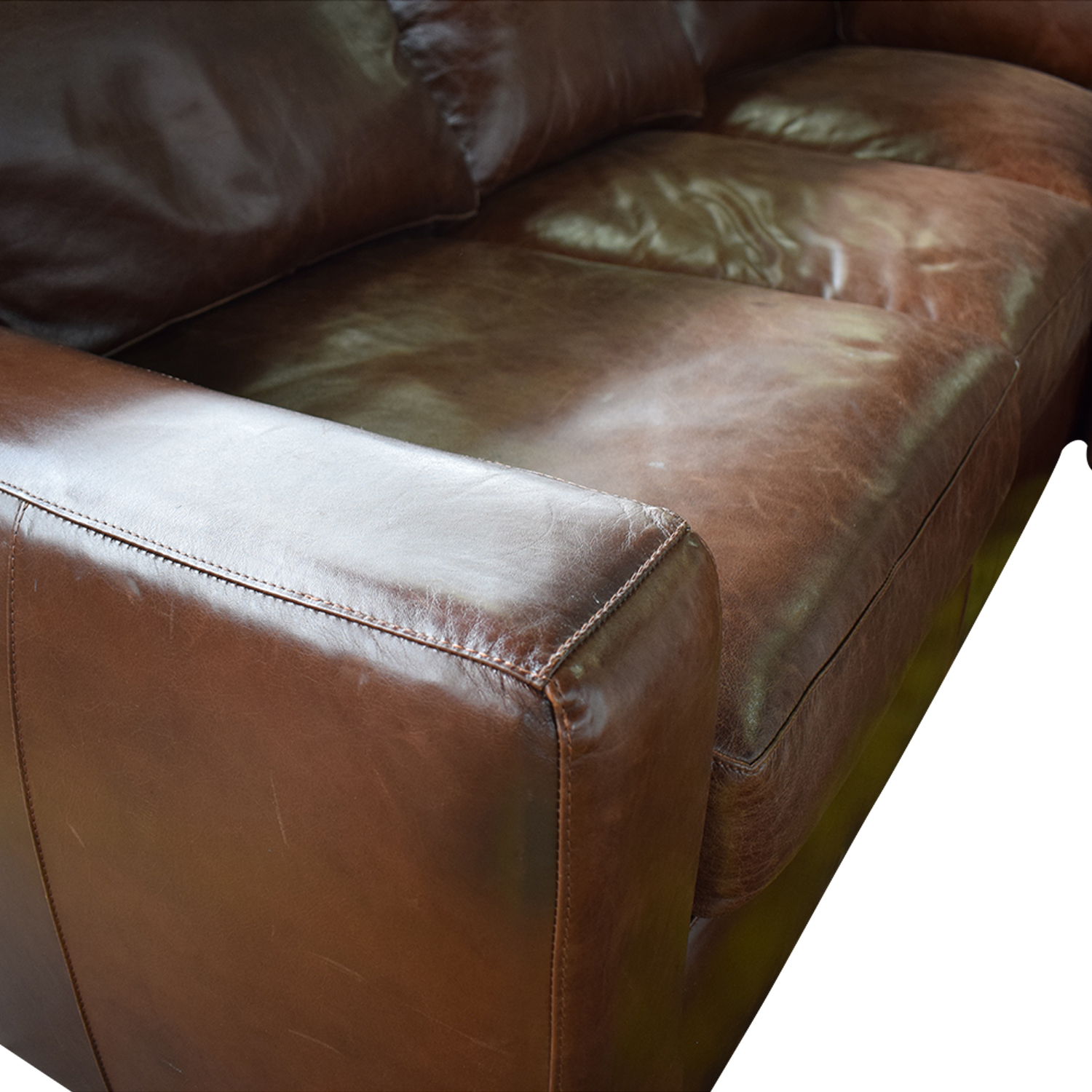 ABC Carpet & Home Leather Sectional / Sofas